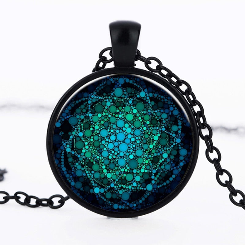 2019 New Flower of Life Necklace Om Yoga Chakra Pendant Mandala Necklaces Fashion Glass Dome Sacred Geometry Women Jewelry