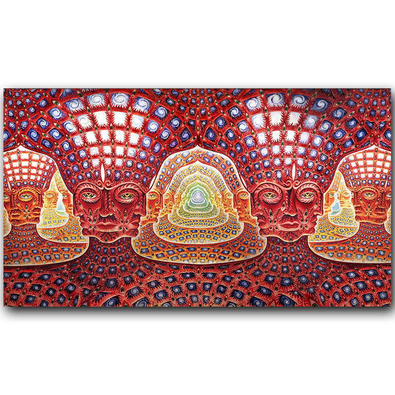 Tool Alex Grey Oversoul Trippy Psychedelic Abstract poster Decorative Wall painting