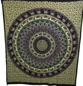 Purple Cotton Tapestry  (135 x 220 cm)