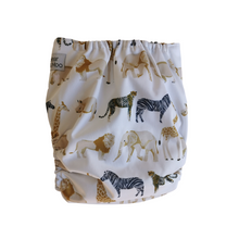 Load image into Gallery viewer, Bear & Moo African Safari Cloth Nappy