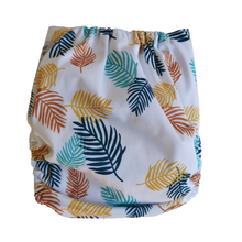 Load image into Gallery viewer, Bear & Moo Fern Cloth Nappy