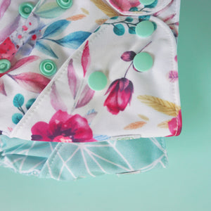 Bear & Moo Floral Blush Cloth Nappy