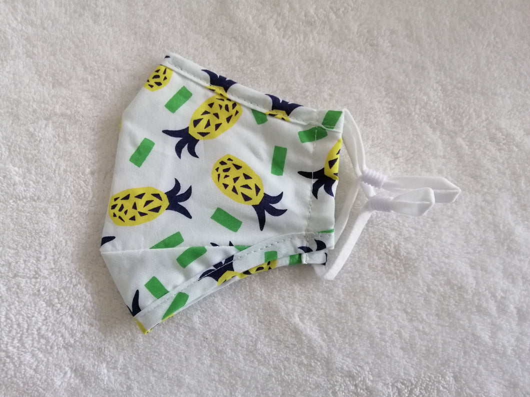 Kids pineapple cotton facemask
