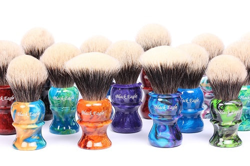 Colorful Black Eagle Shaving Brushes 500 Pix
