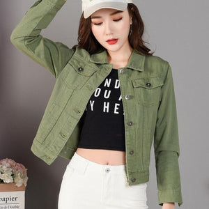 2019New Denim Jacket Light Blue Bomber Short Jeans Jacket Casual Ripped Denim Outwear 2XL Slim Long Sleeve Black Jeans Jack Coat