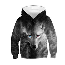 Load image into Gallery viewer, Wolf 3D Print Boys Girls Hoodies Teens Spring Autumn Outerwear Kids Hooded Sweatshirt Clothes Children Long Sleeve Pullover Tops