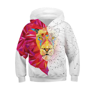 Wolf 3D Print Boys Girls Hoodies Teens Spring Autumn Outerwear Kids Hooded Sweatshirt Clothes Children Long Sleeve Pullover Tops