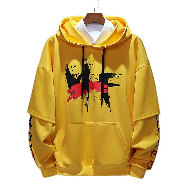 Men Sweatshirt Hooded Autumn Hoodie Baggy Long Sleeve Casual Hoodies Hip Hop Plus Size M-4XL  High Street Men Clothing,ZA274