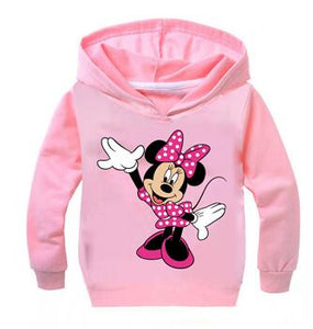 Cartoon Minnie Mickey New Baby Girls Sweatshirts Spring Autumn Children Hoodies Long Sleeves Leisure Sweater Kid T-shirt Clothes