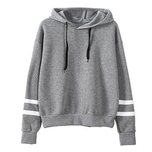 Women Sweatshirt Autumn Hoodies Casual Pullover Female White Striped Long Sleeve Hoodies For Ladies Women Pullover Sweatshirt