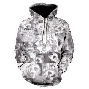 Sweaty Face Ahegao 3D Print winter Anime Casual Hoody Sweatshirt Men Tracksuit Hoodies Pullover Streetwear Jacket DropShip