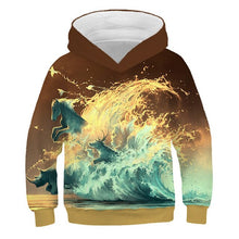 Load image into Gallery viewer, 2019 Autumn Kids Space Galaxy 3D Hoodies Fire Football Colorful Paint Printing Boys Girls Sweatshirts Children Fashion Pullovers
