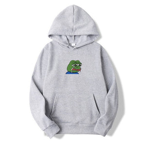 Sad tearing frog Print Hoodies Men Women Sweatshirts 2019 New Harajuku Hip Hop Hoodies Sweatshirt Male Japanese Street clothing