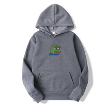 Load image into Gallery viewer, Sad tearing frog Print Hoodies Men Women Sweatshirts 2019 New Harajuku Hip Hop Hoodies Sweatshirt Male Japanese Street clothing