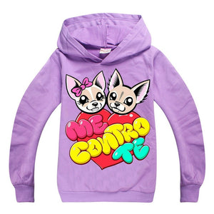 ME CONTRO TE cartoon hoodie baby girl sweatshirt Children Clothing kids hoodies clothes boys cotton costume christmas t shirt