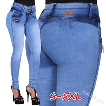Load image into Gallery viewer, Women's Autumn Winter Long Denim Pants High Waist Jeans Skinny Sexy Pants for Women Clubwear Plus Size S-5XL Trousers
