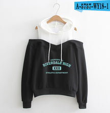 Load image into Gallery viewer, RIVERDALE hoodies Dew Shoulder Hoodie Sweatshirt 2019 south side serpents Hoodies Women southside riverdale clothes XS-2XL
