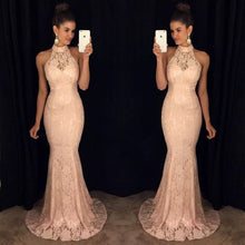 Load image into Gallery viewer, Luxury Gray Sequin Mermaid Long Dress Women 2019 Evening V Neck Sleeveless Bodycon Reflective Party Lace Dresses Vestidos