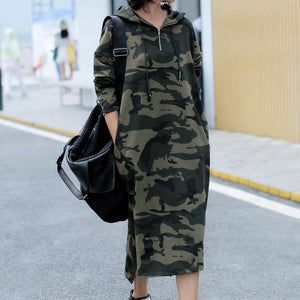 Women Cotton Camouflage Printed Pullovers Sweatshirt Full Sleeve Long Hooded Hoodies Pullovers Tops Casual Sweatshirt