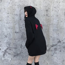Load image into Gallery viewer, Joinyouth Plus Size Women BF Style Hooded Sweatshirt Devil Wing Causal Oversize Hoody Autumn Winter Fleece Thicken Hoodies 56709