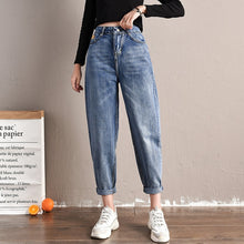 Load image into Gallery viewer, Spring Autumn jeans new Korean fashion casual tide high waist jeans plus size female jeans women jeans loose wild Harem pants