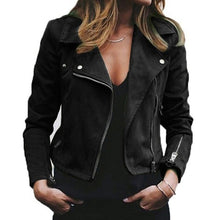 Load image into Gallery viewer, Winter Women Lapel Diagonal Zipper Short Ladies Jacket Wine Red women Jacket plus size New Arrival Y6.w
