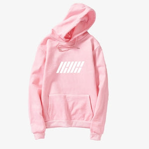 Korean Kpop Hoodies Women Men IKON Album Long Sleeve Fleece Letter Pullovers Sweatshirts Casual Harajuku Fans Supportive Clothes
