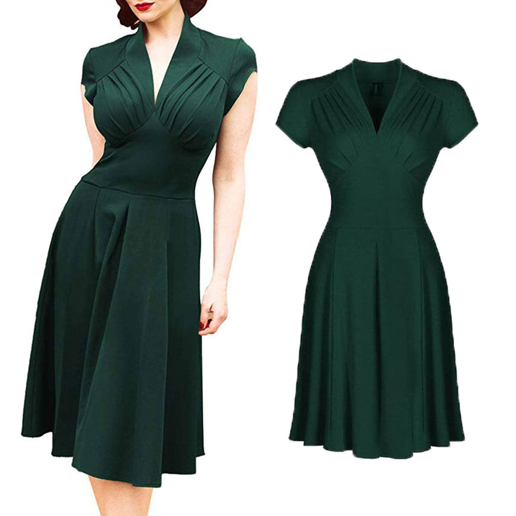 Women's Vintage Dress 50s 60s Retro Rockabilly Pinup Housewife Party Swing Tea Elegant Dresses Formal Gown