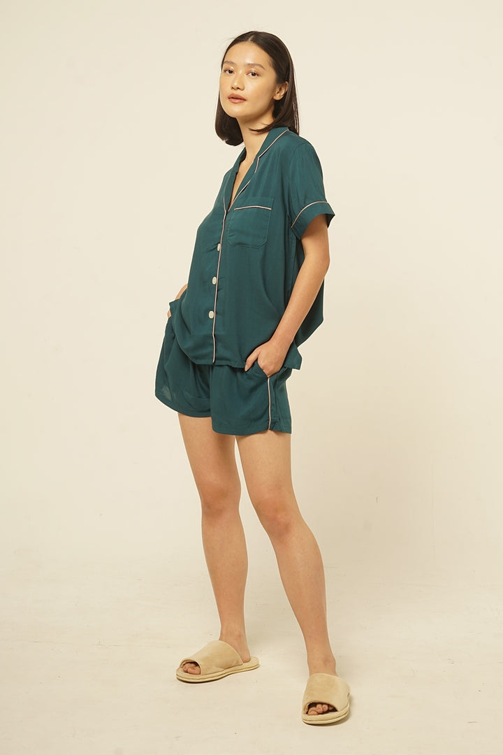 Mappi Rayon Pajama Top in Tosca