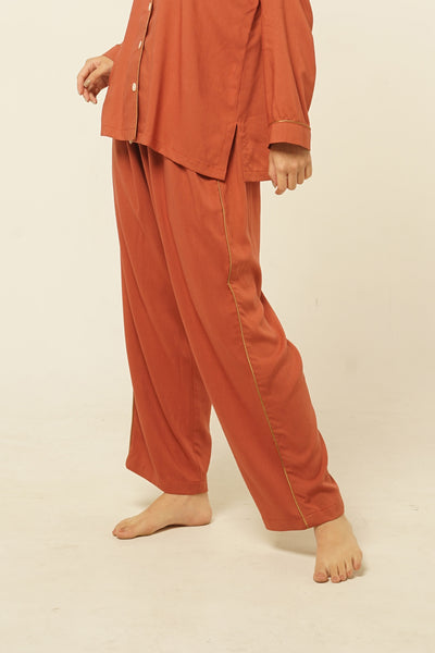 Parigi Rayon Pants in Terracotta