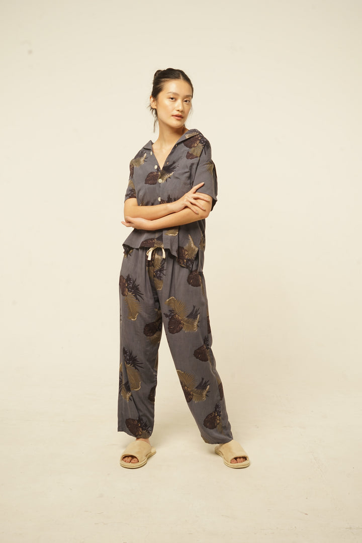 Parigi Rayon Pants in Grey Lush