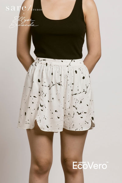 Kawa Pajama Bottom in Off White Splats