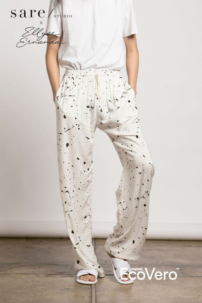 Parigi Men Pajama Pants in Off White Splats