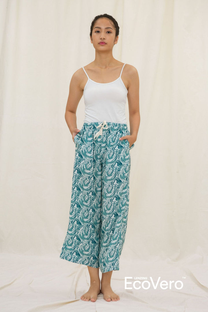 Lialang Wide Leg Pants in Wave