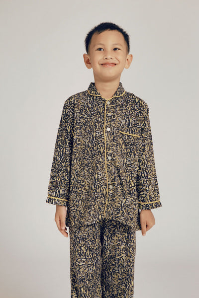 Praya Parigi Kids Rayon Long Sleeve Set in Dash