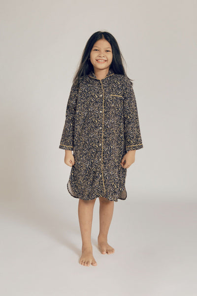 Marisa Kids Rayon Long Sleeve Nightdress in Dash