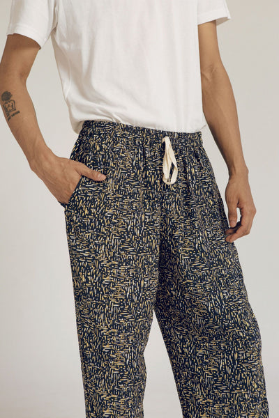 Parigi Men Rayon Pants in Dash