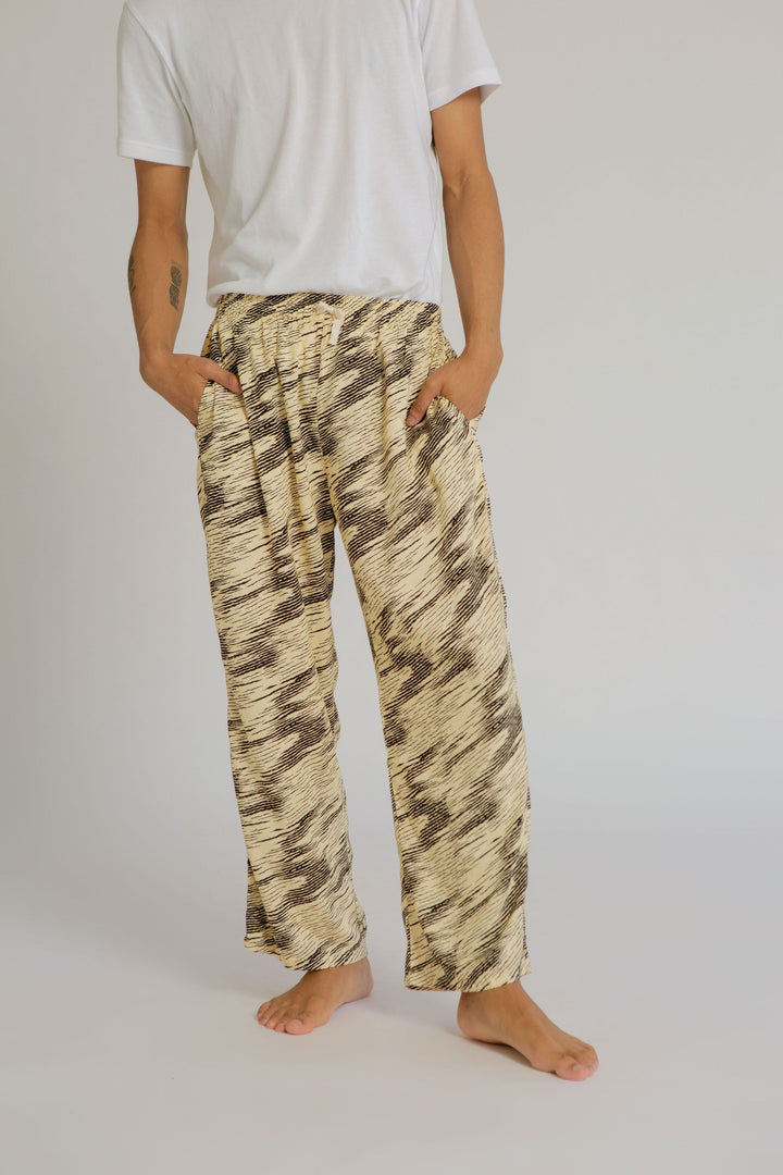Parigi Men Rayon Pants in Zebra