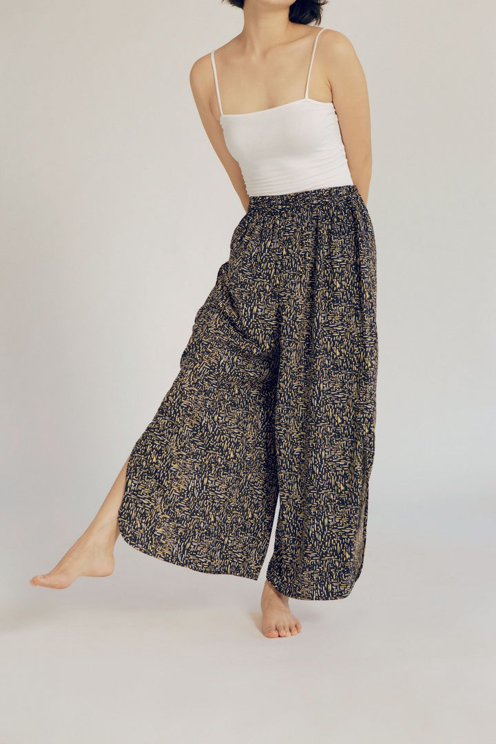 Biak Rayon Split Side Pants in Dash
