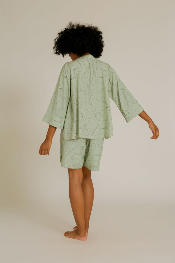 Lirung Mandarin Collar Pajama Top in SS Line