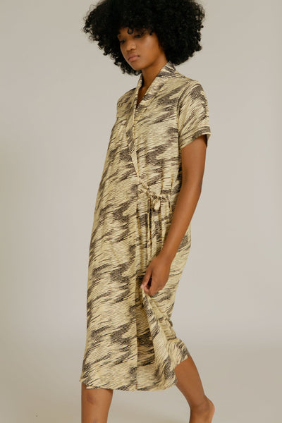 Nias Rayon Wrap Nightdress in Zebra