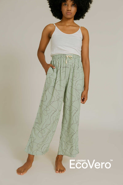 Lialang Wide Leg Pants in SS Line