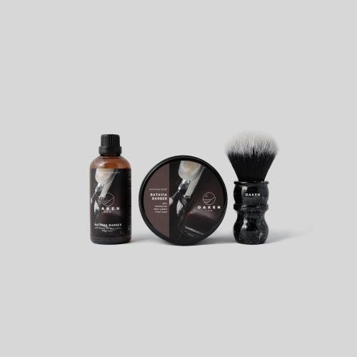 Starter Set (Shaving Soap- After Shave Splash- Oaken Brush) Batavia Barber