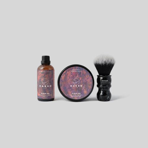 Starter Set (Shaving Soap- After Shave Splash- Oaken Brush) Plein Air