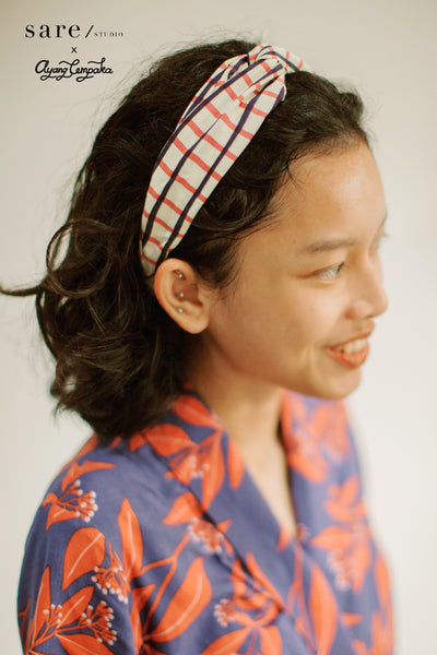 Natia Headband In Checker