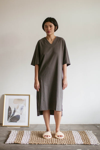 Tepa Cotton Batwing Nightdress in Grey