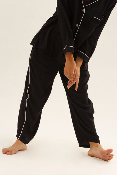 Parigi Rayon Pants in Black