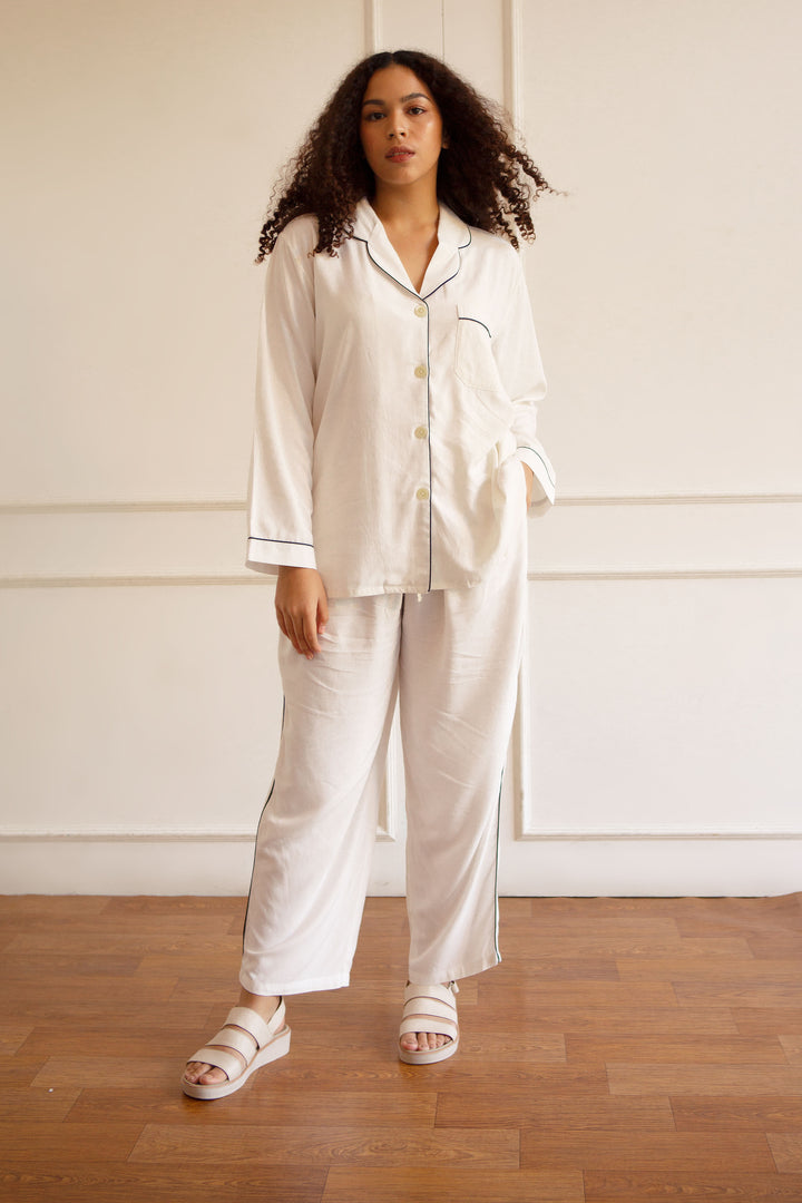 Parigi Rayon Pants in White