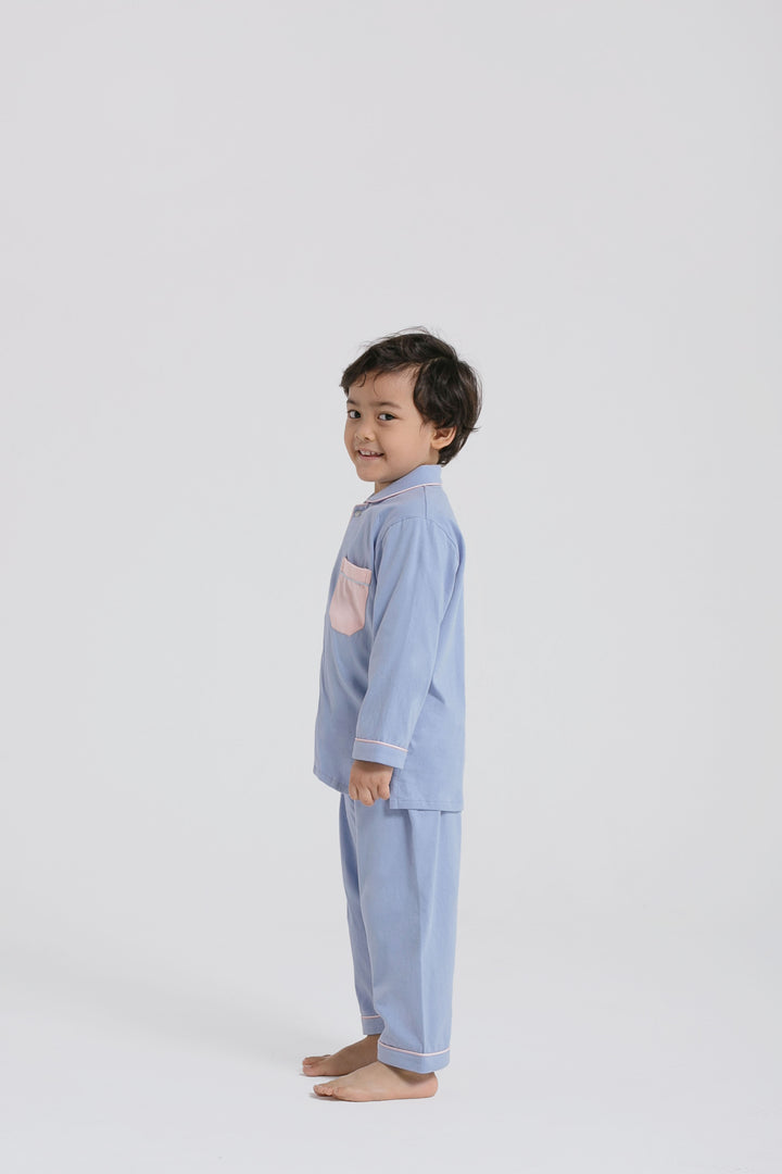Praya Parigi Kids Stretch Cotton in Blue