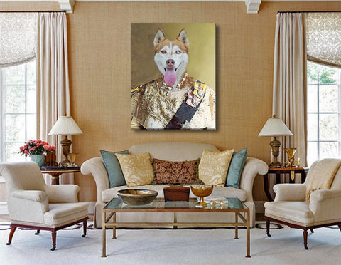 Image of queen dog wall painting canvas